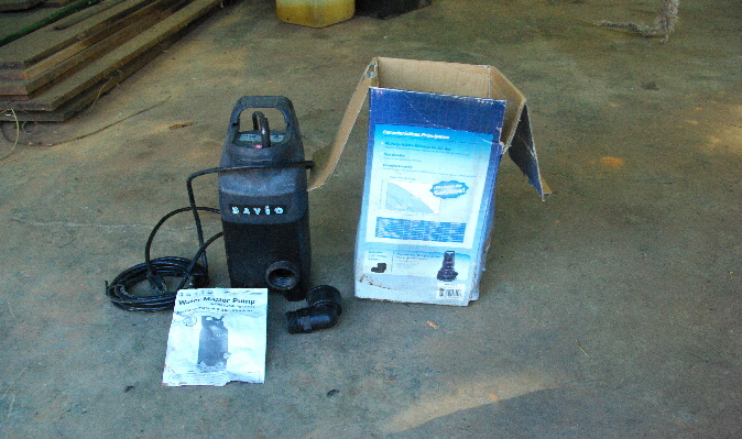 savio pond master pump with brochure